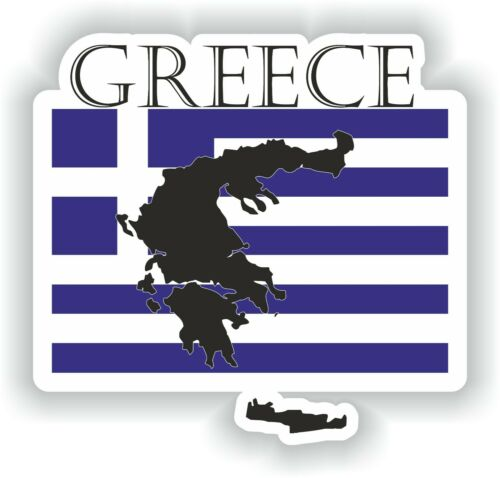 Sticker of Greece Decal for Bumper Travel Car Laptop Tablet Suitcase Hollidays