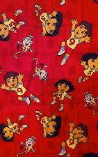 """Dora the Explorer Diego Soccer Fabric By the Yard Football 44"""" Wide Soccer Balls"""