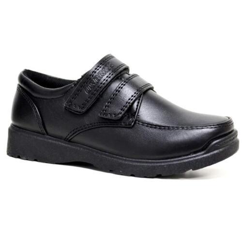 Boys Faux Leather School Shoes Kids Smart Dress Formal Back To School Shoes Size