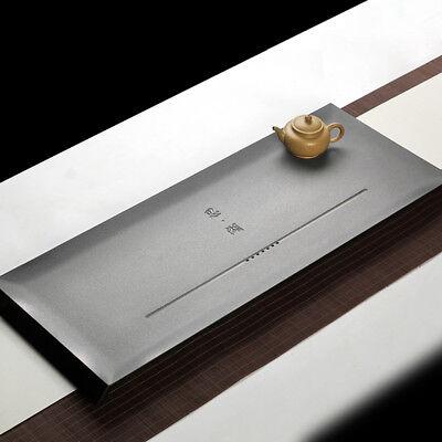 Zen style tea tray black stone tea tale business use tea party heavy tea boat