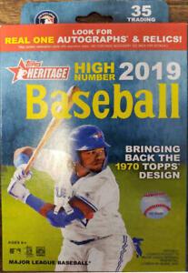 Verzamelingen Verzamelkaarten: sport 2019 Topps Heritage Baseball EXCLUSIVE Factory Sealed HANGER Box-Loaded!