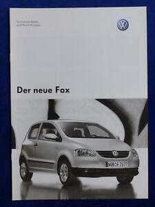 VW-Fox-Technische-Daten-amp-Ausstattungen-Prospekt-Brochure-03-2005