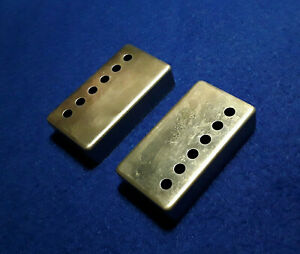 RAW-NICKEL-PAF-Covers-Made-in-USA-49-2mm-for-Gibson-LP-SG-Humbuckers-Light-Aging