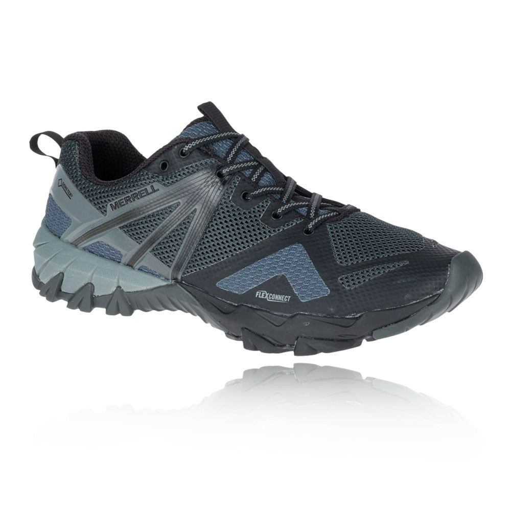 finest selection 210e8 3deda Merrell Mens MQM Flex GORE-TEX Walking shoes Grey Navy bluee Sports Outdoors