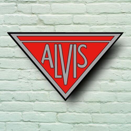 ALVIS LOGO 2FT LARGE GARAGE SIGN WALL PLAQUE BADGE CAR CLASSIC WORKSHOP