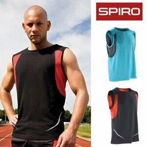Spiro Sports Athletic Sleeveless Vest (S186X) - Running / Gym / Keep Fit