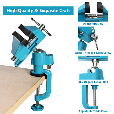 3/'/' Jaws  Table Bench Top Vise Vice Universal Swivel Clamp Woodworking Tool