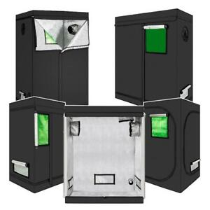 5 Sizes High-Reflective Plant Grow Tent Black Non Toxic Hut Indoor Green Window