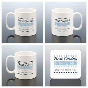 Image Is Loading BEST DAD MUG PERSONALISED Best Daddy Cup Birthday