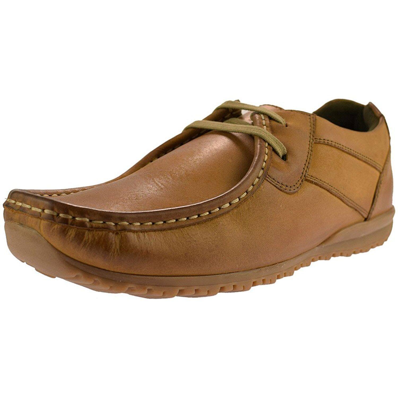 Herren Ikon Leder Schnürbar Modischer Schuh Tide - Hellbraun