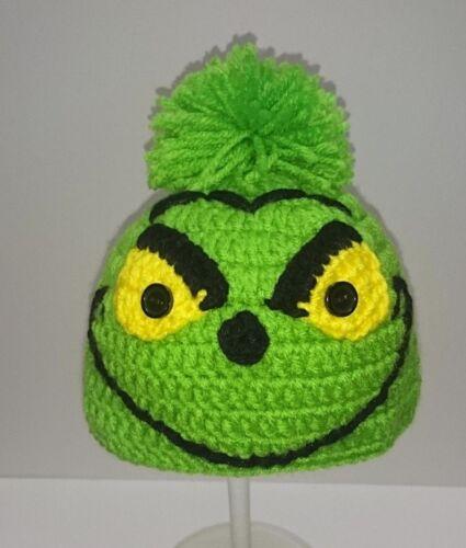 Cute Toddler Kids Girl/&Boy Baby crochet Knit beanie cap grinch