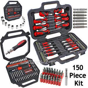 150-Pce-Mechanics-Screwdriver-Nut-Driver-Bits-Socket-Bit-Tool-Set-Phillips-Torx