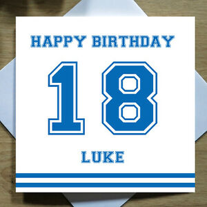 Image Is Loading Personalised Handmade Varsity Birthday Card For Him 16th