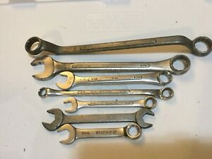 VINTAGE WRENCHES LOT of 7- MAC , MATCO , S-K  , - etc , nice usable condition