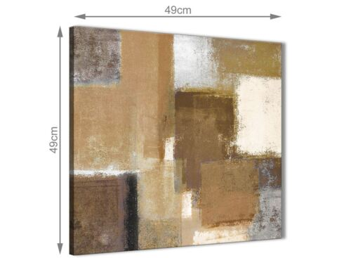 49cm Brown Cream Beige Painting Bathroom Canvas Accessories Abstract 1s387s