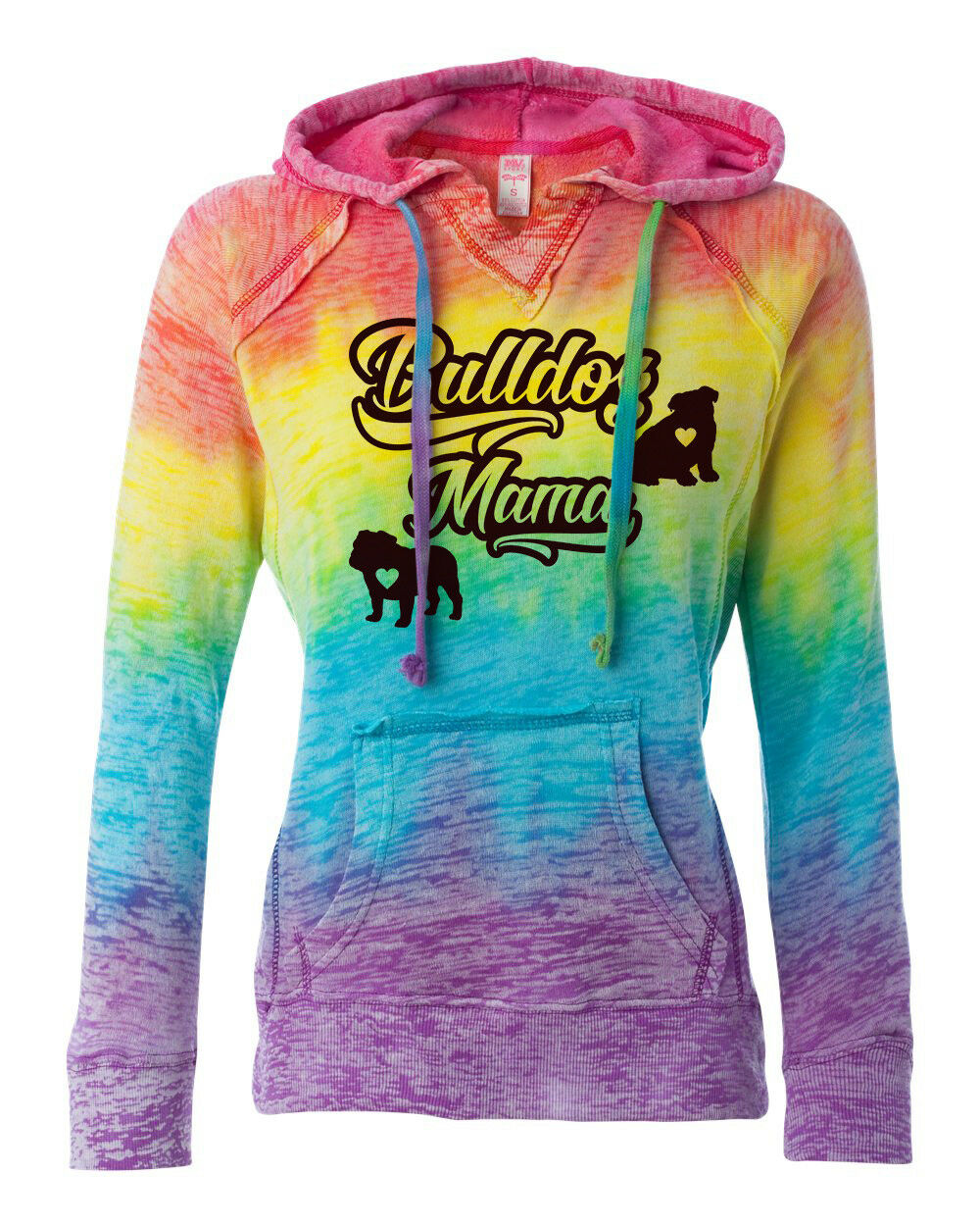 Bulldog Mama Rainbow Hoodie English Bulldog Hoodie bulldog mom hoodie