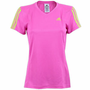 Details zu adidas Damen Galaxy Shirt Laufshirt Running Fitness Sportshirt pink
