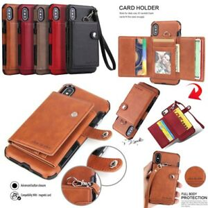 Luxury-Purse-Wallet-PU-Leather-Card-Case-TPU-Cover-For-iPhone-X-Samsung-S9-LG