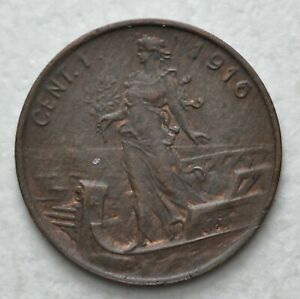 1916-R-Kingdom-Italy-1-Cent-King-Vittorio-Emanuele