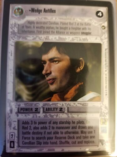 Star Wars CCG BB A New Hope Limited Wedge Antilles NrMint-MINT SWCCG
