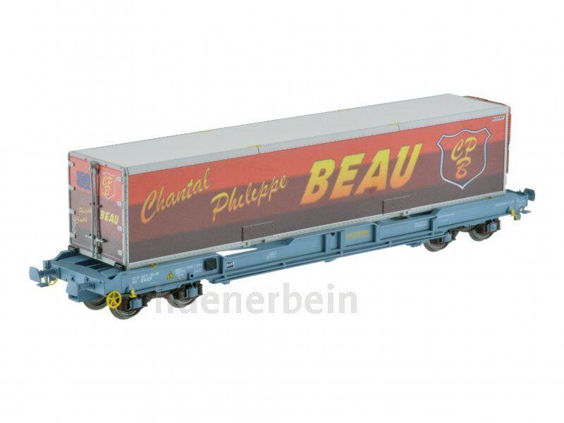 LS Models 30311 SNCF 4ach containertragwg K1 Nova Trans bluee Grey 40' Beau Ep5 NEW