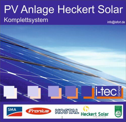 SMA 5,27kwp Photovoltaikanlage Heckert Solar mono 310Wp Kostal Fronius