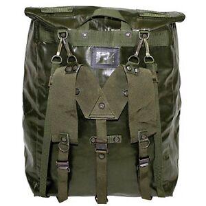 Original Czech army PVC vinyl M-85 big 60 liter rucksack backpack w suspenders