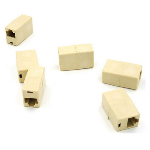 10PCS RJ45 Female to Female Network Ethernet Lan Cable Joiner Connector ys