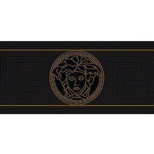 Image Is Loading Versace Greek Key Wallpaper Borders Black  New