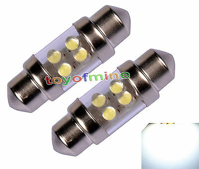 2x 4 LED 31mm C5W Car Truck Festoon Interior Dome Light Lamp Bulb DC 12V White