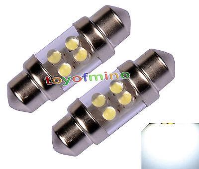 2x 4 LED 31mm C5W Car Truck Festoon Interior Dome Light Lamp Bulb DC 12V White