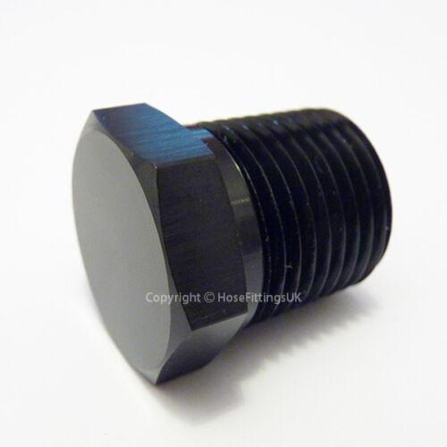 3//4 npt Tête Hex Socket Noir Plug d/'obturation bonde bloqueur fuel adaptateur mâle