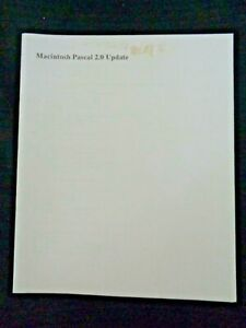Rare-Vintage-Apple-Computer-Macintosh-Mac-User-039-s-Guide-Manual-PASCAL-2-0-Update