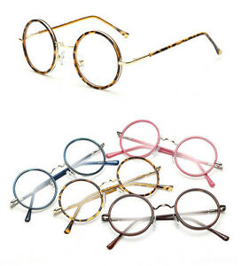 b2a549bdf8b6 Image is loading Vintage-Small-Round-Eyeglass-Frames-Glass-Spectacles-Retro-