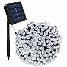 NEW ORA 100 LED Solar Powered String Lights with Automatic Sensor, Black, 55 ft