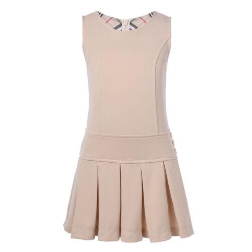 Girls Kid Mini Pleated Tennis Skater Short Skirt School Uniform Hem Dress Jumper