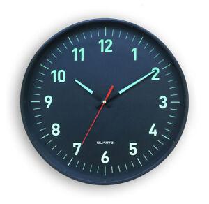 Horloge-Silencieuse-phosphorescente-a-Quartz-Blanc-25-cm-Pendule-Heure-Lumineuse