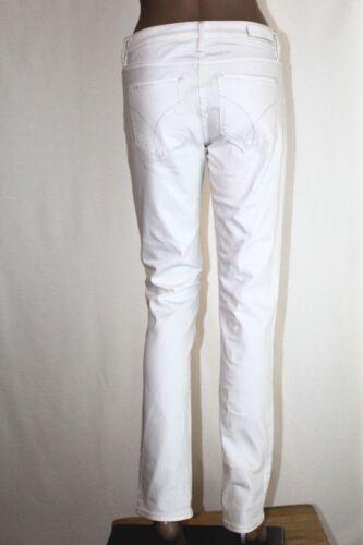 27 jambe taille jean femmes droite Euc pour Calvin x Klein extensible denim blanc 32 6nqfIvgcxW