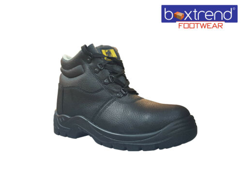 NEW MENS MAXSTEEL LEATHER SAFETY STEEL TOE CAP ANKLE WORK BOOTS SHOES CHUKKA