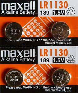 4-PILES-LR1130-AG10-189-1-5V-MAXELL-ENVOI-RAPIDE