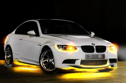Zento Deals 4x Yellow Amber 30cm 15 LED Car Flexible Waterproof Light LED Strips