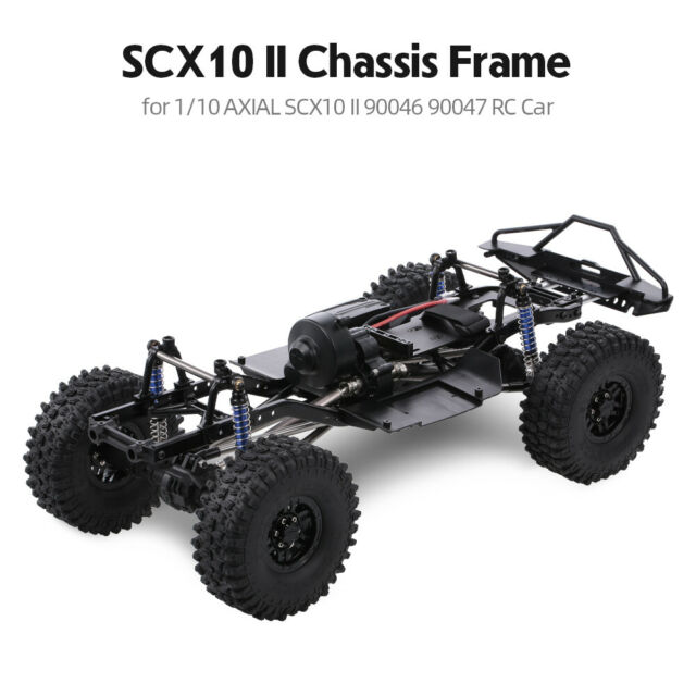 AUSTAR 313mm Wheelbase Chassis Frame + Tries for 1/10 AXIAL SCX10 II RC Car  R7E7