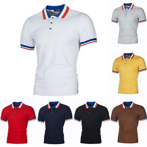 Men-039-s-T-shirts-Shirt-Golf-Short-Sleeve-Tops-Slim-Fit-Casual-Sports-Jersey-Tee