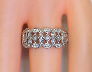 Beautiful-10K-White-Gold-1-4Ct-TDW-Appx-Women-039-s-Diamond-Ring-Size-7