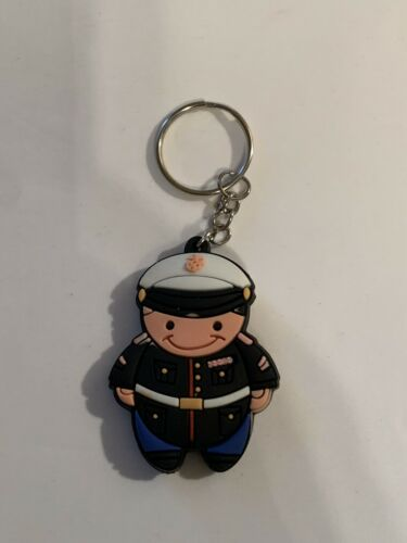 US Marine Figure Rubber Keychain