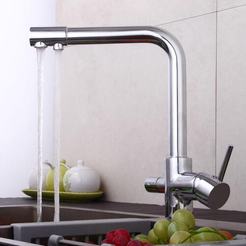 3 Wege Wasserhahn Küchenarmatur Wasserfilter Kaltes//Warmes//Ffiltriertes Wasser