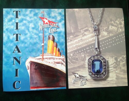 2 x White Star Line Titanic large colour postcards USPS 14498 Necklace & Ship