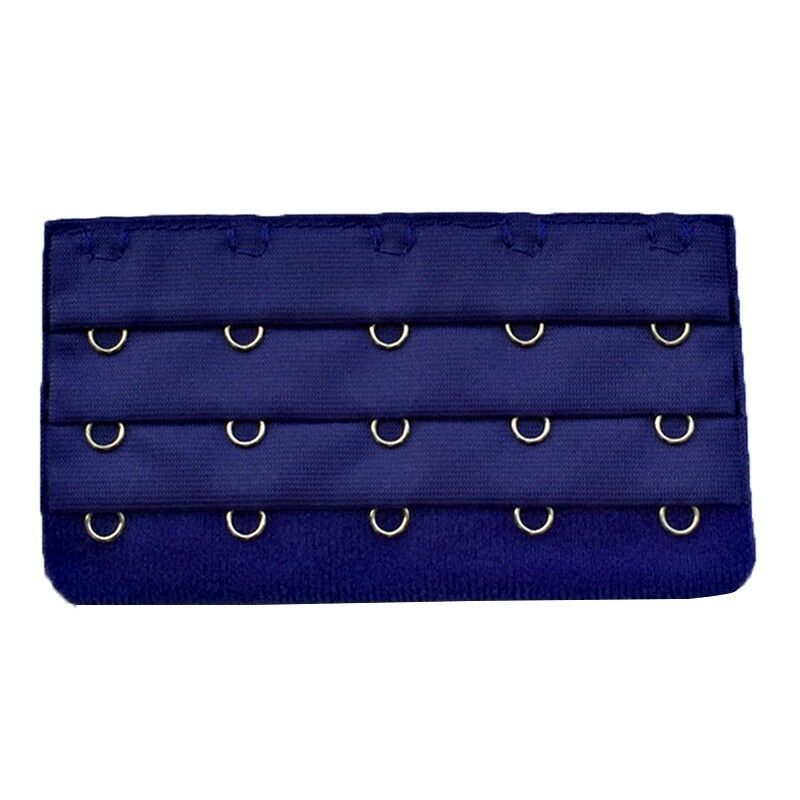 3x(4pcs Lady 5 Hooks Stretch Underwear Bra Back Band Extenders Navy Blue P8p3 Rk
