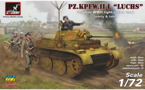 Pz.Kpfw.II Ausf.L Luchs  Armory #AR72203, 1:72 scale