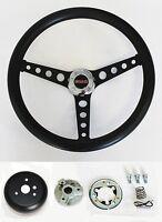 Gmc Pick Up Truck Jimmy Van Black Foam On Black Steering Wheel 14 1/2 Gmc Cap